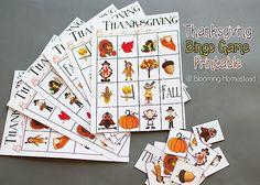 Thanksgiving Bingo Game Free Printable via @Lisa Phillips-Barton Damman-Sharrow Homestead ...so fun!