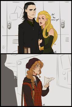 Loki and Sigyn by:nanihoo