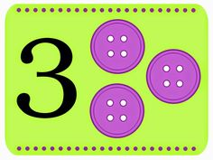 cute idea for number flash cards Teaching Numbers, Numbers Preschool, Math Numbers, Preschool Math, Kindergarten Math, Teaching Math, Math Games, Math Activities, Early Years Maths