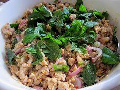 My Everyday Food Abroad: Larb Gai (Thai Spicy Chicken Salad)