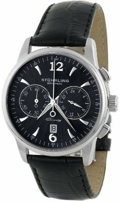 Stuhrling Original Men's 186L.33151 Symphony Aristocrat Watch Stuhrling Original. $163.52. Features a date at the six o'clock position and 24 hour indicator. Krysterna scratch resistant crystal. Quartz movement. Water-resistant to 165 feet (50 M). Built in a high polished stainless steel case and on a genuine leather strap. Save 72% Off!