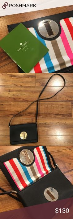 Brand new purse 👛💋💄 This Kate Spade purse is super cute. I wore it once for a night out. Comes with care instructions. Still has the new purse smell 😁 kate spade Bags Crossbody Bags