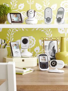 Keep an eye on your baby with sound, video or movement style baby monitors.
