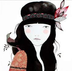 Ilustración Lady Desidia 506-5P | Ela Diz Love Illustration, Ink Illustrations, Character Illustration, Doll Painting, Figure Painting, Painting & Drawing, Sweet Drawings, Face Art, Painting Inspiration