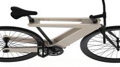Demadera vélo sandwich en bois par William Root