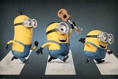 Minions Abbey Road - Stuart, Kevin and Bob