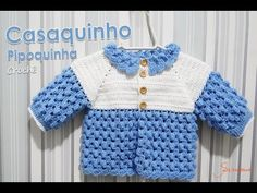 Casaquinho de Crochê Pipoquinha | Parte 1 | Professora Simone - YouTube Baby Boy Crochet Blanket, Baby Boy Blankets, Boy Crochet Patterns, Crochet Designs, Baby Pullover, Baby Cardigan, Knitting Videos, Crochet Videos, Crochet Crocodile Stitch
