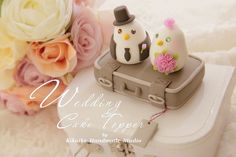 Wedding Cake Topper-love bird with luggage base   Flickr – Compartilhamento de fotos!