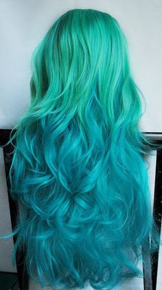 greenish blue to blue. Gorgeous.
