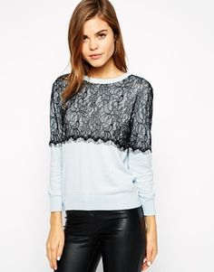 Enlarge Warehouse Lace Sweater