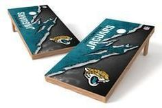 Jacksonville Jaguars Single Cornhole Board - Ripped