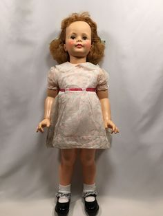 Ideal Patti Playpal Doll Red Hair Floral Dress 35″ #Ideal #DollswithClothingAccessories