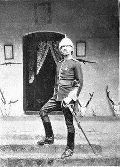 Major Gordon Casserly commanded a detachment of the Rajputana Infantry on the North West Frontier province 1895 Uk History, History Of India, British History, Colonial India, British Colonial, British Army Uniform, Men In Uniform, Pax Britannica, Age Of Empires