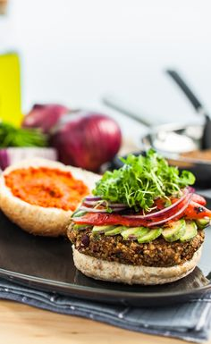 #Recipe: Quinoa Bean Burger  Adapted with permission from Kitchen Cures (Penguin) by Peggy Kotsopoulos #VeganRecipes #WhatVeganEat