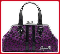 Sourpuss Temptress Purple Leopard Purse - Top handle bags (*Amazon Partner-Link)
