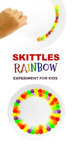 EXPERIMENT FOR KIDS: Can you make a Skittles rainbow? #skittlesrainbowexperiment #skittlesrainbow #scienceexperimentskids #scienceexperimentsforkids #rainbowactivitiespreschool
