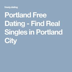 free online dating portland