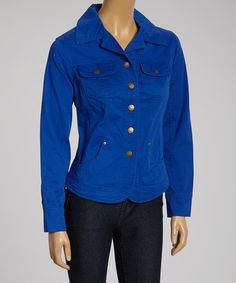 6fb923650ee7 Live A Little Royal Blue Button-Up Jacket - Women