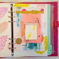 ashley g art journal page