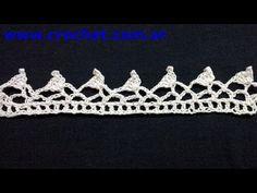 Puntilla N° 36 en tejido crochet tutorial paso a paso. - YouTube