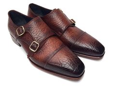 Paul Parkman Double Monkstraps Brown Leather Upper & Leather Sole – Styles By Kutty
