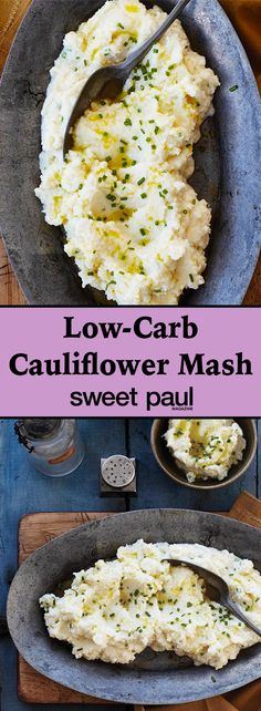 This is a great low-fat and low-calorie dish. It's a great substitute for mashed potatoes.