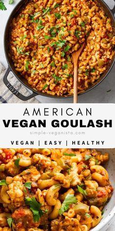 Vegan Dinner Recipes, Whole Food Recipes, Vegetarian Recipes, Cooking Recipes, Healthy Recipes, Healthy Food, Vegan Quick Dinner, Vegan Recipes One Pot, Vegan Crockpot Recipes