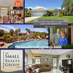 NEW ON THE MARKET! Stunning 4/2 pool home in The Grove. Generous rooms and low… Kim And Ron, Indian River County, Vero Beach Fl, Treasure Coast, Coastal Living, Florida, Real Estate, Tours, Island