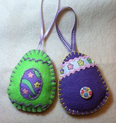 Easter Egg Ornaments by patsfabriccreations on Etsy, www.etsy.com/shop/patsfabricreations