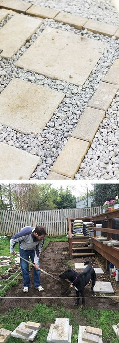 It took some work, but this paver patio made a big improvement to this backyard. A gravel and paver patio is a very cost-effective way to add outdoor living space to a yard. Caitlin Kruse of Style Within Reach explains how she and her husband created this space to enhance their deck. It's on The Home Depot Blog. || @stylewthinreach