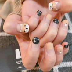 25 Best Ideas Nails Design For Kids Cute - Barniz de uñas - Nageldesign Korean Nail Art, Korean Nails, Nail Swag, Trendy Nails, Cute Nails, Nail Art For Kids, Easter Nail Art, Kawaii Nails, Dog Nails