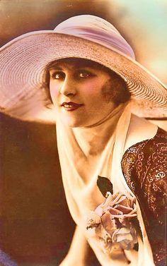 vintage lady in a hat