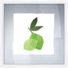 Lime Framed Giclee Print