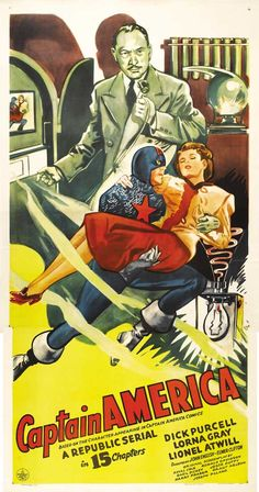 Poster for the 1944 Captain America Republic movie serial.