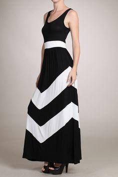 Happy To Be Comfy Chevron Maxi Dress