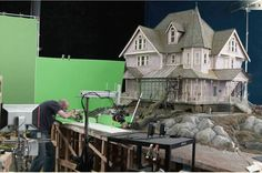The making of Coraline stop motion puppet set.