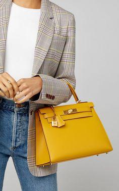 Hermès Vintage by Heritage Auctions Hermes 28cm Jaune Ambre Epsom Leather Sellier Kelly.  #harem #bag #women's #fashion #accessories #kit #style