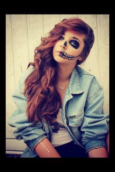 Beautiful Sugar Skull Make Up