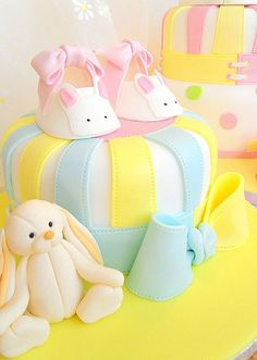 Bootie cake with bunny by deborah hwang, via Flickr