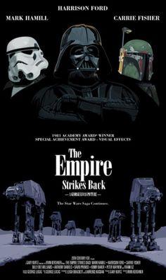 Alternative Star Wars iconic movie posters