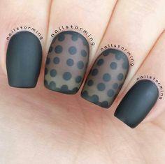 Sheer and matte polka dots!