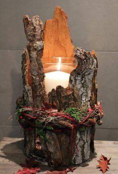 Подсвечник artesanato ideias decoração natalina passo a passo mesa posta arranjo faça vc mesmo diy presente centrodemesa pinha artesanais mesa de natal ceia de natal Wood Crafts, Diy Crafts, Diy Wood, Rustic Wood, Deco Nature, Christmas Candle Holders, Christmas Candles, Christmas Fireplace, Navidad Diy