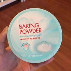 Baking Powder Cleansing Cream! love the light blue color<3