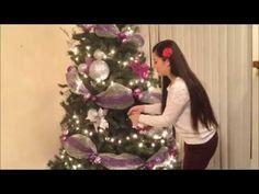 Como decorar el árbol de Navidad: Cintas - YouTube