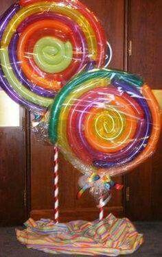Paleta de caramelo globos