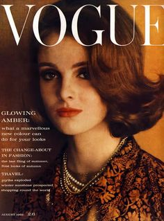 Grace Coddington was so amazingly gorgeous when she was young. She's still amazing now, to be honest.