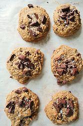 Oaty-Chocolate Chunk-Salted Coffee Cookies {gluten free}