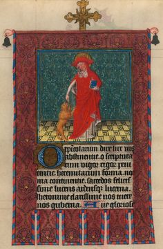 St. Jerome   Hours of Catherine of Cleves, in Latin   Illuminated by the Master of Catherine of Cleves   Utrecht, The Netherlands   ca. 1440   The Morgan Library & Museum