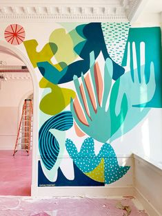 mural art Ashley Mary on - art Murals Street Art, Mural Wall Art, Mural Painting, Door Murals, Graffiti Wall, Paintings, Keramik Design, Bedroom Murals, Abstract Painters