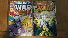 The-Infinity-War-Comic-lot-of-2-Issues-5-and-6-1992-Both-VF-F
